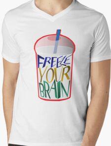 Freeze Your Brain Mens V-Neck T-Shirt