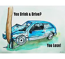 drunk driving Photographic Print