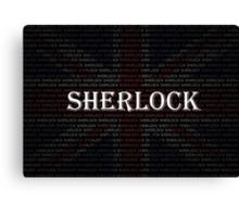 Sherlock Holmes Flag Canvas Print