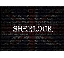 Sherlock Holmes Flag Photographic Print