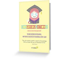 Congradulations! (Female) Greeting Card