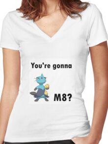 You're gonna Dewott m8? Women's Fitted V-Neck T-Shirt