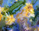 Daffodils (Red Lightning Agate) by Stephanie Bateman-Graham