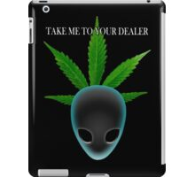 Alien who needs medical marijuana iPad Case/Skin