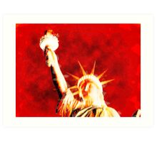Thermal Statue of liberty face Art Print