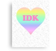 IDK Heart Canvas Print