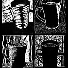 Seasons of Coffee - woodcut by summercountry