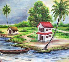 Old Village Home by pranavan