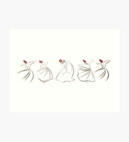 sufi lines Art Print