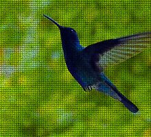 Hummingbird Mosaic by Al Bourassa
