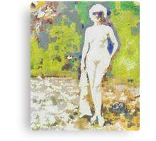 Nude in Sunglasses ~ Diane Arbus Impression Canvas Print