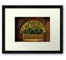 Tropical Garden Arch Framed Print