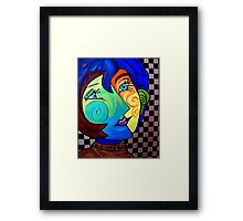PICASSO PAINTING BY NORA  TWO FACE Framed Print