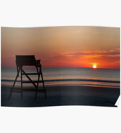 Sunrise behind the Lifeguard Poster