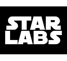 Star Labs - Star Wars Text Photographic Print