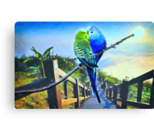 love birds and majestic landscape 3 Canvas Print