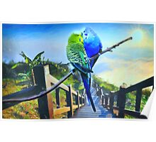 love birds and majestic landscape 3 Poster