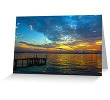 Dock at Sunset Greeting Card