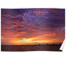 Sunset Fire in the Sky Poster