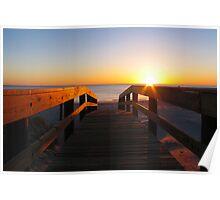 Walking Towards Sunrise Poster