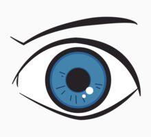 Blue eye One Piece - Short Sleeve