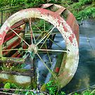 Old Water Wheel by Steve