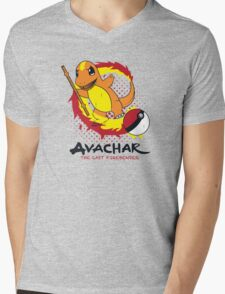 Avachar- The last Firebender Mens V-Neck T-Shirt