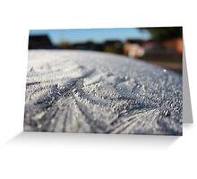 frosty car Greeting Card
