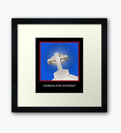 Looking for Answers? Framed Print