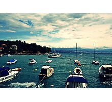 floating boats Photographic Print