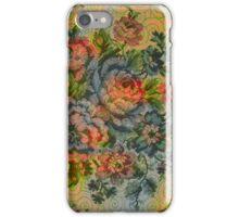 Pastel Tones Vintage Roses Pattern iPhone Case/Skin
