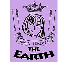 Woman Inherits The Earth Photographic Print
