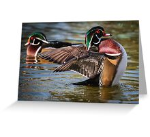Two Woodies Greeting Card