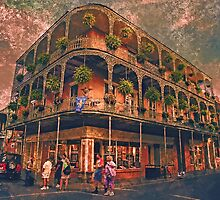 Saint Philip and Royal streets in French Quarter New Orleans by Adam Asar