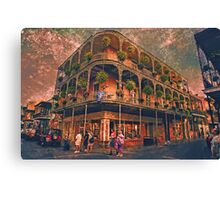 Saint Philip and Royal streets in French Quarter New Orleans Canvas Print