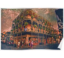 Saint Philip and Royal streets in French Quarter New Orleans Poster