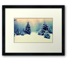 snowy forest  Framed Print