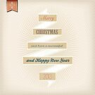 Grunge Christmas And Happy New Year On Ribbon by csecsi