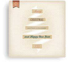 Grunge Christmas And Happy New Year On Ribbon Canvas Print