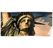 Statue of liberty face close up 2 Poster