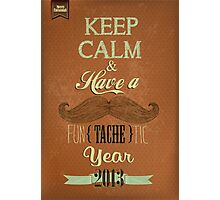 Vintage Happy New Year Calligraphic And Typographic Background Photographic Print