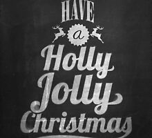 Vintage Merry Christmas And Happy New Year Calligraphic And Typographic Background With Chalk Word Art On Blackboard by csecsi