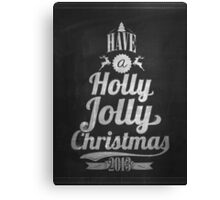 Vintage Merry Christmas And Happy New Year Calligraphic And Typographic Background With Chalk Word Art On Blackboard Canvas Print