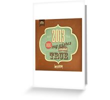 Vintage Merry Christmas And Happy New Year Calligraphic And Typographic Background Greeting Card