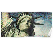 Statue of liberty face close up pointoism Poster