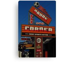 Drunk Corner Bar, Kalamaki, Zante Canvas Print