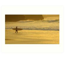 Dude at Watergate Bay Art Print