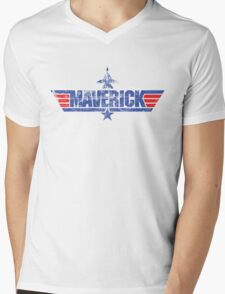 Custom Top Gun Style - Maverick Mens V-Neck T-Shirt