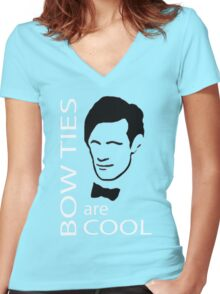 Doctor Bowtie Women's Fitted V-Neck T-Shirt