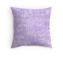 Lavender Painted Grunge Throw Pillow